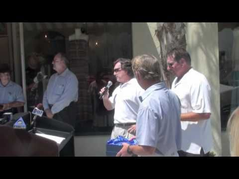 Buck Owens Getting His Star In The Sidewalk In Front Of The