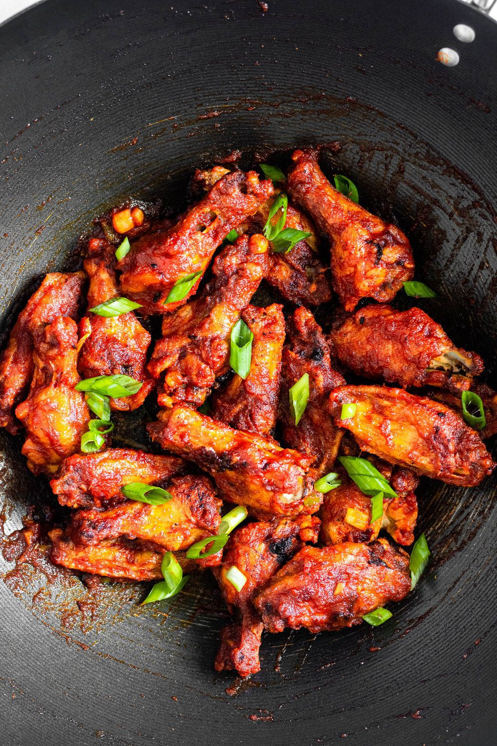 Crispy Thai Red Curry Chicken Wings All The Healthy Things Curry Chicken Wings Recipe Red Curry Chicken Chicken Wing Recipes