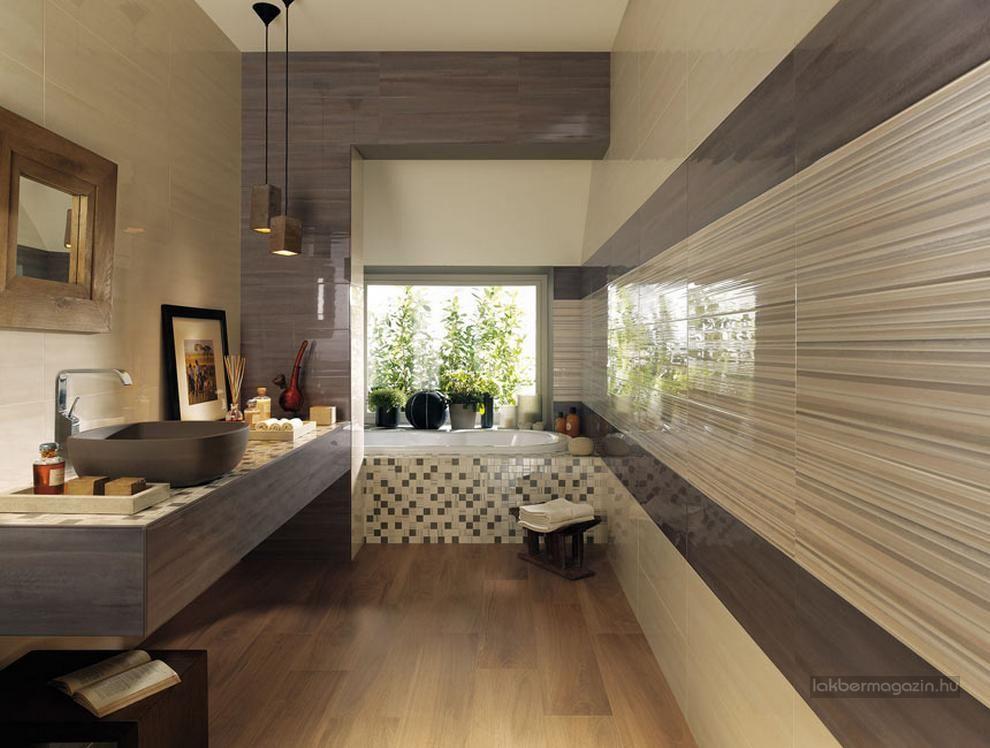 Természetes Színek, Modern Fürdőszoba Burkolat ötletek   Semleges, Meleg,  Elegáns