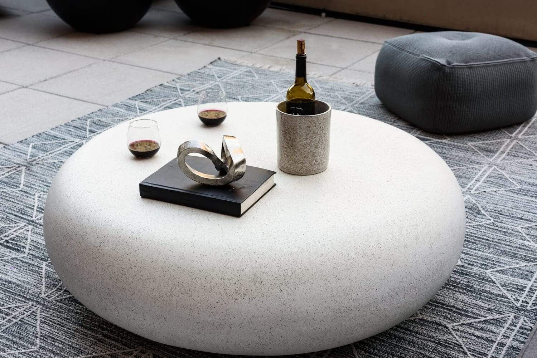 Cement Pebble Table Concrete Furniture Stone Coffee Table Pebbles [ 1001 x 1500 Pixel ]