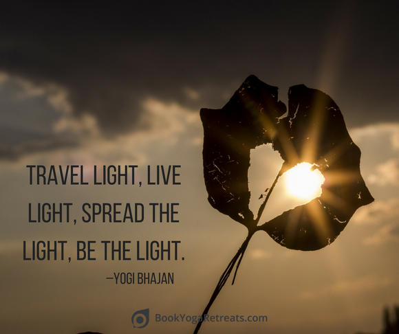 Light Quotes Gorgeous Travel Light Be The Light Quote  Inspiration  Pinterest  Yoga