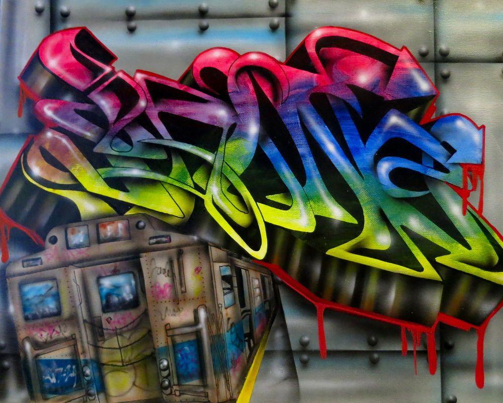 Graffiti original urban art canvas in home garden ebay