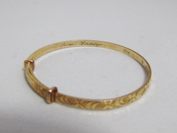 Vintage 1940s Baby S Ring And Bracelet 10k Gold Bracelets Gold Rings
