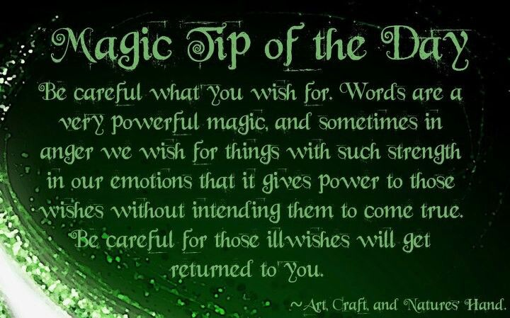 Book of Shadows:  Magic Tip of the Day.