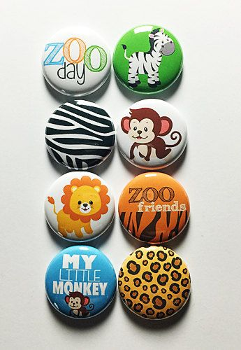 At the Zoo 1 Flair by aflairforbuttons on Etsy | {a flair for ...