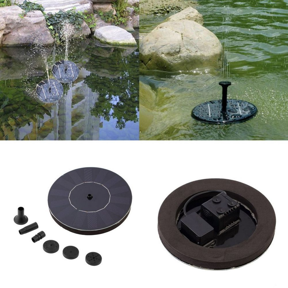 Solar Panel Powered Water Feature Plants Pump Garden Pool Pond/Aquarium Fountain submersible pump hose