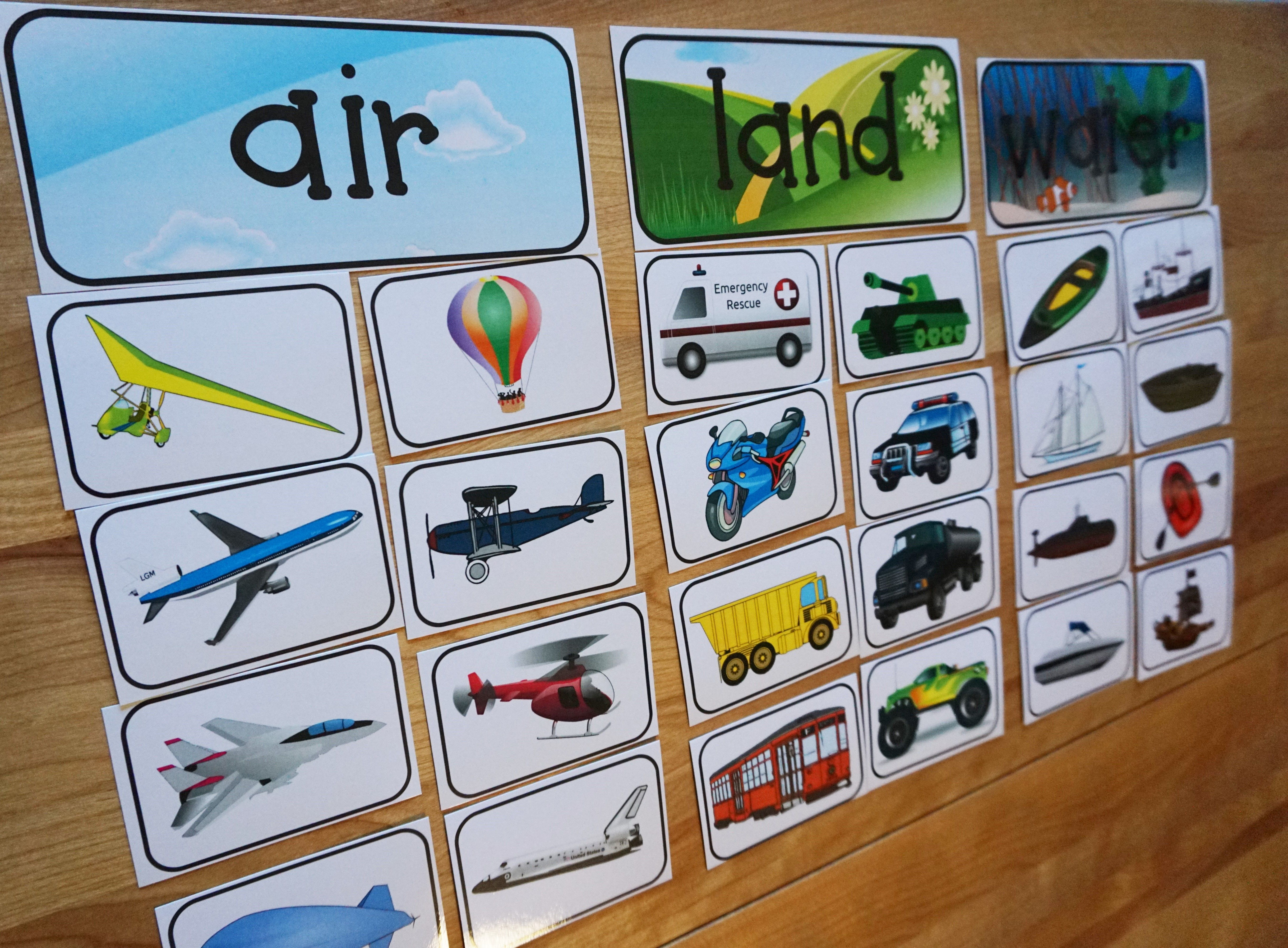 Preschool Sort Transportation Worksheet. Preschool. Best