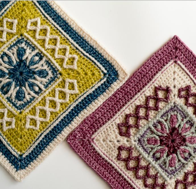 Bursting Center Crochet Granny Square | Patrones de crochet, Manta y ...