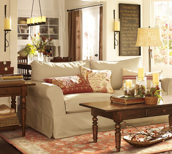 Pottery Barn Living Room With Carpet And Decorative Plant: Sutter Adjustable Lever Floor Lamp Base