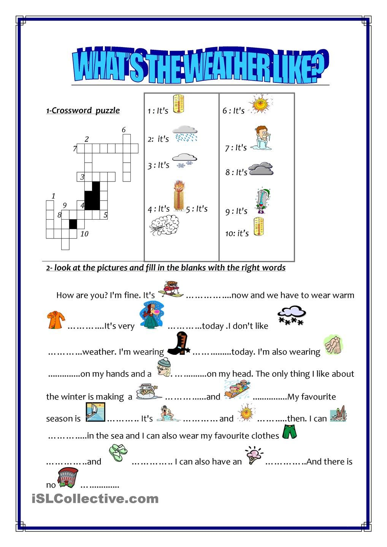 Workbooks weather expressions in spanish worksheets : погода | Обучение | Pinterest | Weather, Weather worksheets and ...