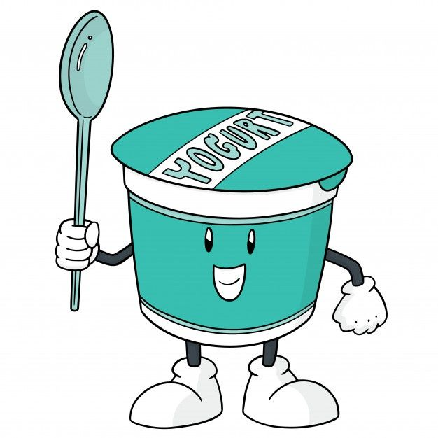 Yogurt Cartoon in 2020 | Yogurt, Cartoon, Vector