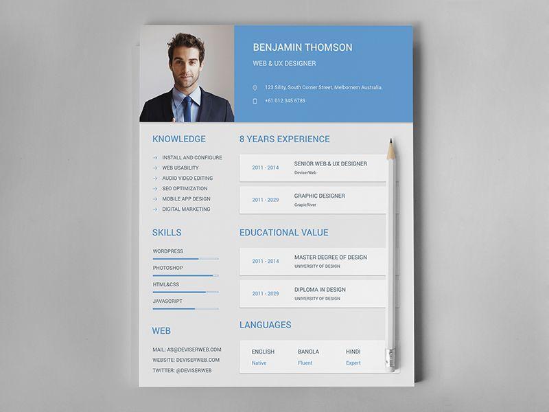 Material Design Resume CV Set Creative Resume Pinterest - how to set a resume