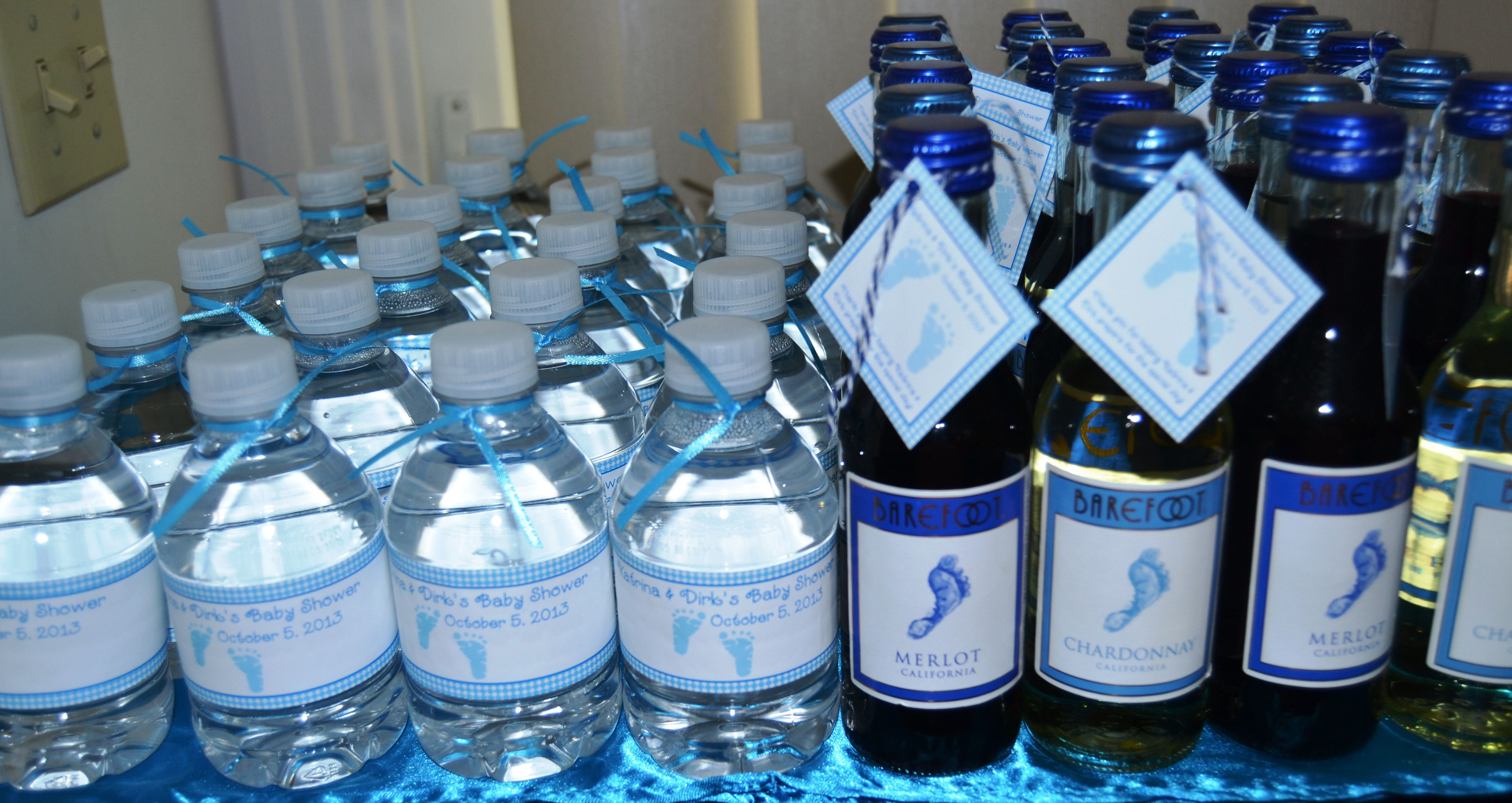 Baby Shower Favors Barefoot Wine Bottles