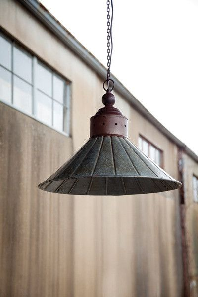 Park Hill Collection Galvanized Tin Pendent Light Fixture