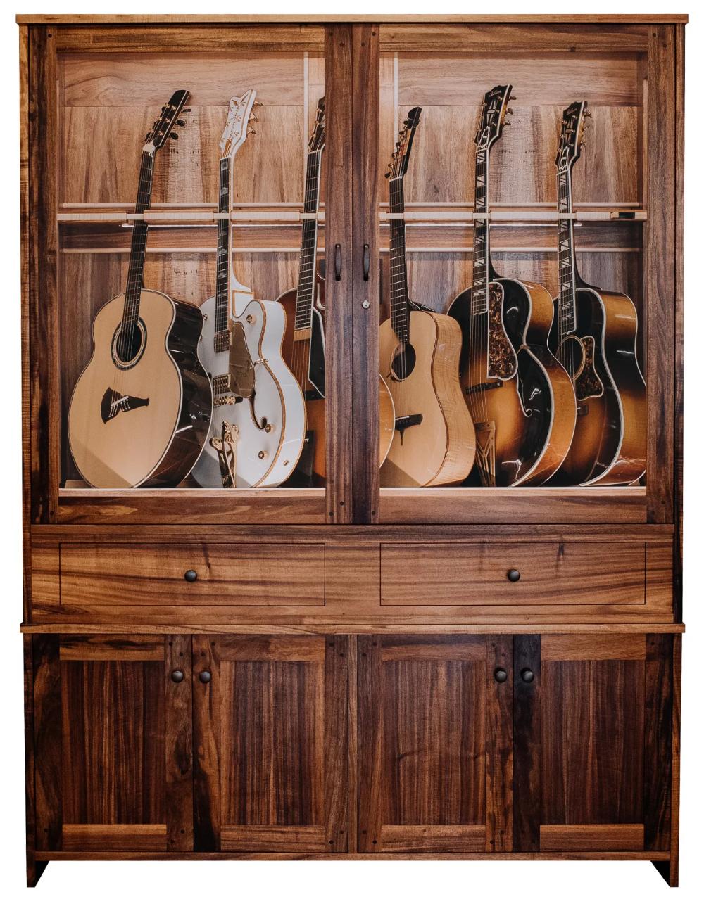 Guitar Estate Guitar Humidifier Cabinets American Music Furniture Guitar Display Case Guitar Storage Cabinet Guitar Display