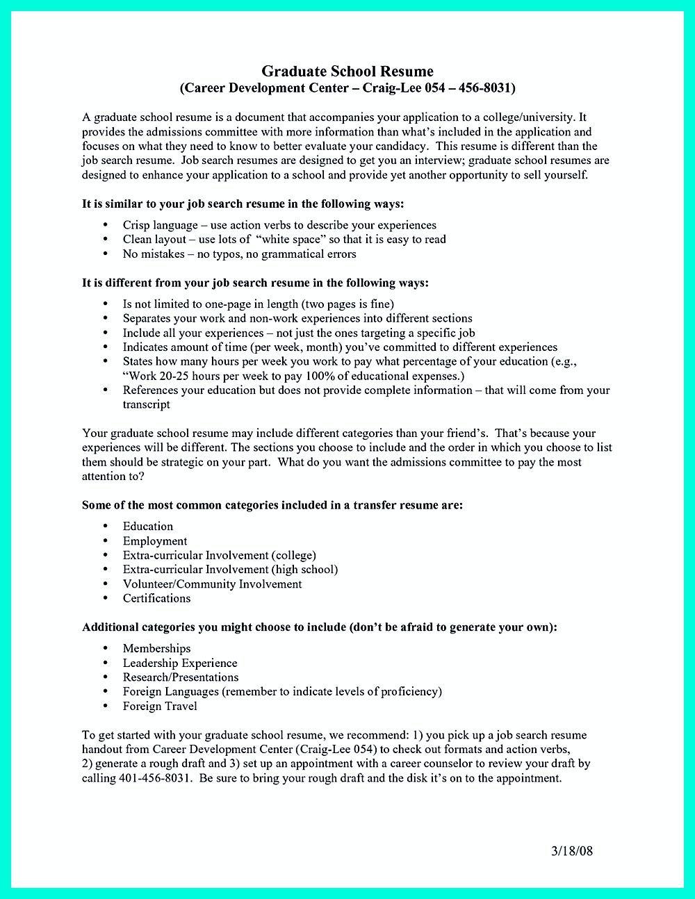 College Application Resume Builder