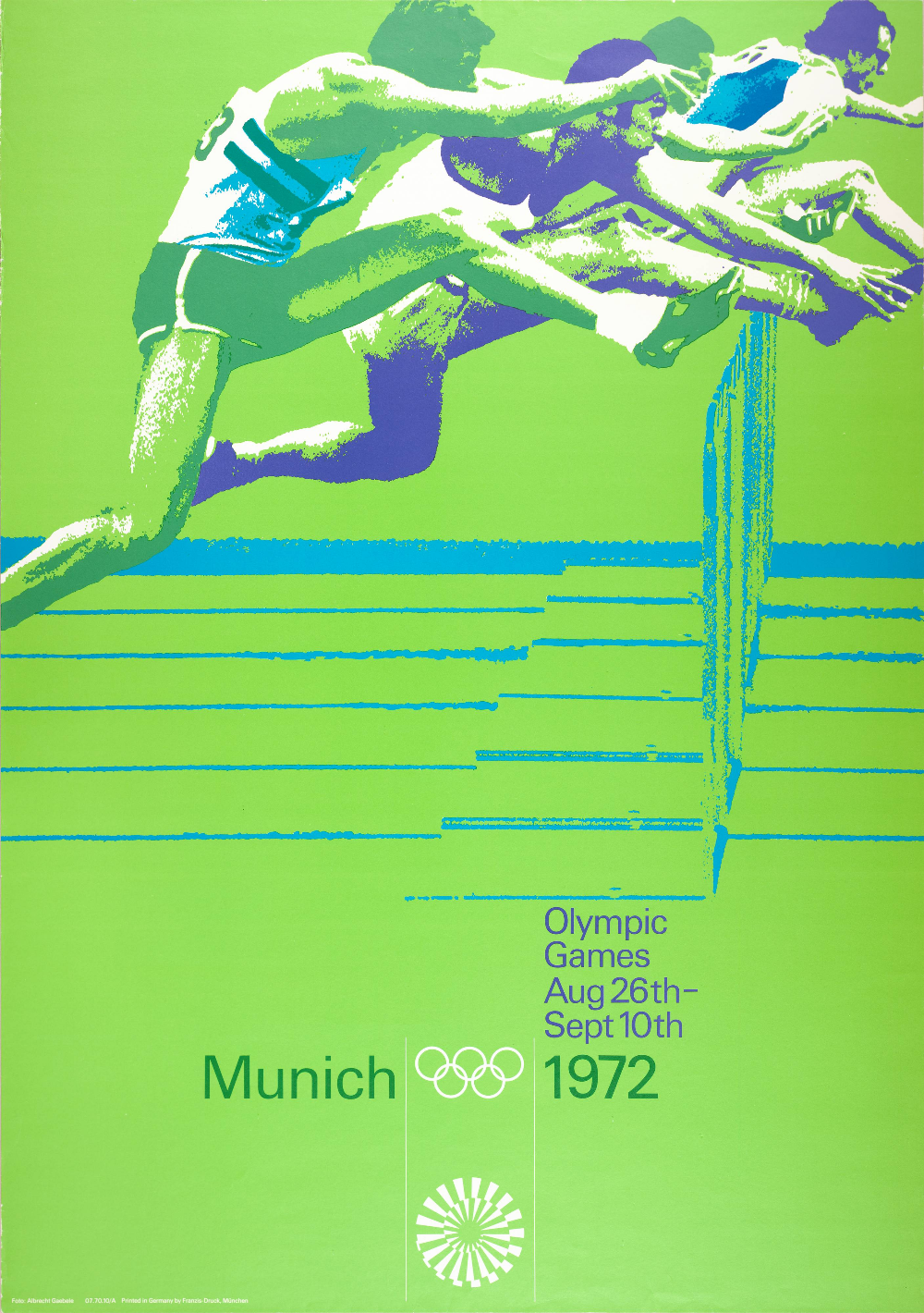 1972 Munich Olympics Hurdles Poster Sports Series Sfmoma Otl Aicher Munich Olympics