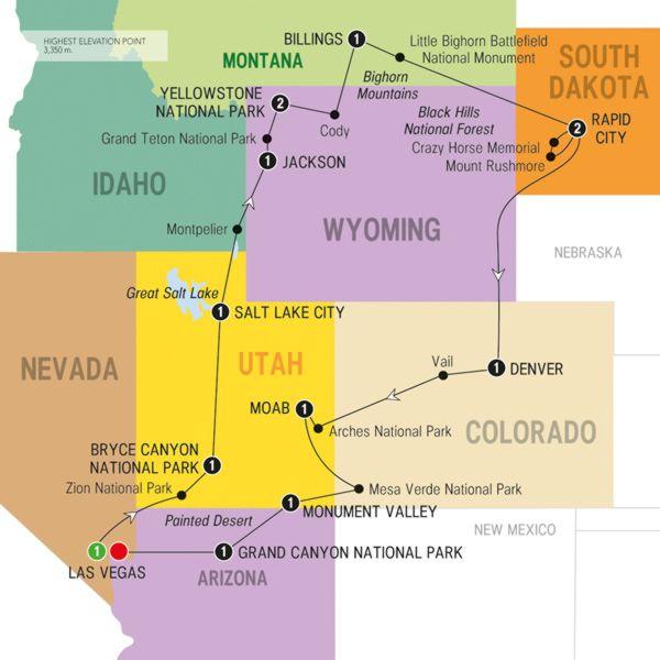 Map of Scenic Parks Explorer Summer 2015 Wanderlust