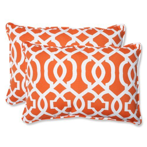 Pillow Perfect Outdoor New Geo Rectangular Throw Pillow Oversized Orange Set Of 2 3 This Is An Amazon Oversized Throw Pillows Throw Pillows Throw Pillow Sets
