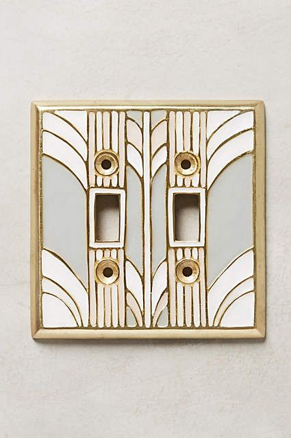 Art Deco Retro Swirl Switch Plate Anthropologie Com Anthrofave Anthropologie Retro Home Retro Retro Home Decor