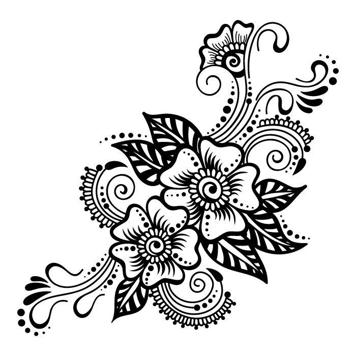 Henna Design Outline: Digitized Mehndi Templates. On Behance