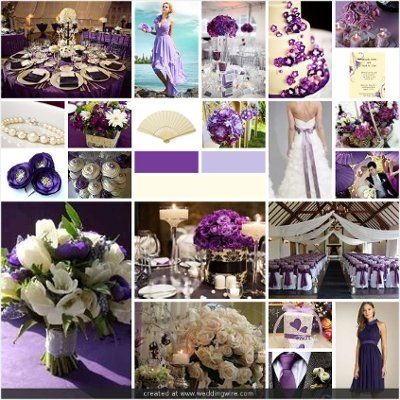 Wedding Inspirations: Purple and Ivory Wedding | COLORS FOR WEDDINGS ...