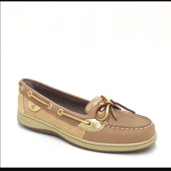 a3ed571d0f Flower sperrys Worn a few times. There is some dirt on them but it would ·  Gold SperrysWomen s Boat ShoesLittle FlowersSperry ShoesTop SiderAngelfish Pretty ...
