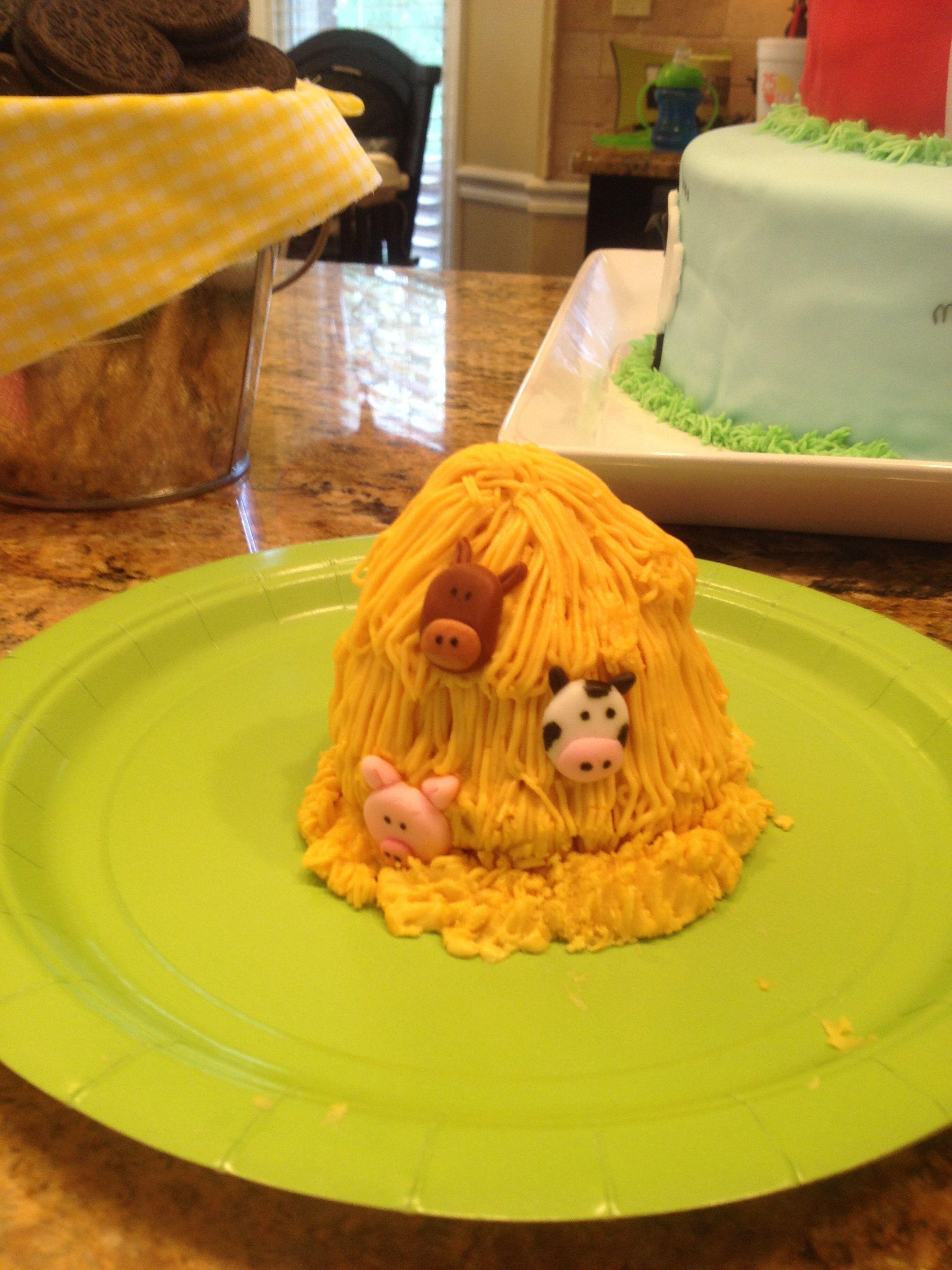 Farm Animal Theme Boy Birthday Smash Cake Farm Birthday Cakes