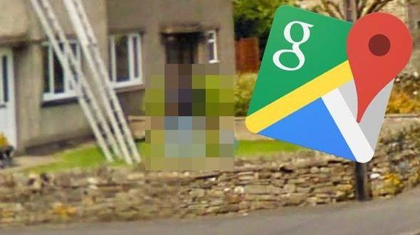 Google Maps Street View What Is This Bizarre Figure Doing Outside