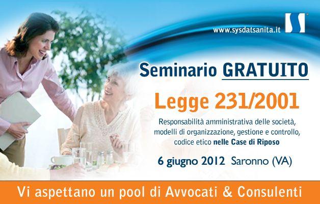 Seminario gratuito Sysdat Sanità in merito alla legge 231/2001