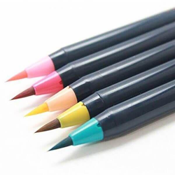 Japan Akashiya Sai Watercolor Brush Pen 5 20 Colors Set In 2019