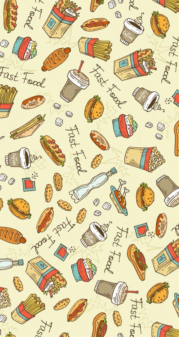 The Fast Food Wallpaper Makanan Objek Gambar Latar Belakang