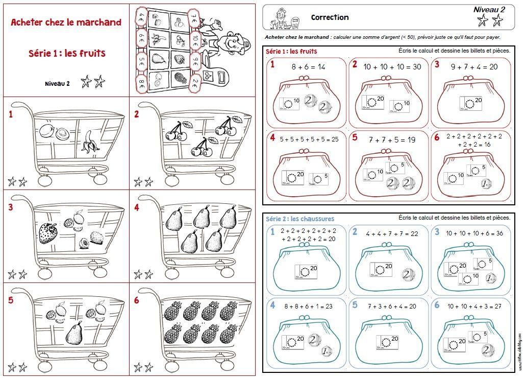 jeu acheter chez le marchand niv2 geldrekenen. Black Bedroom Furniture Sets. Home Design Ideas