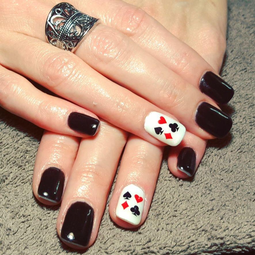 nails, accent nail, gelish, shellac, gellac, nail art, red, - Nails, Accent Nail, Gelish, Shellac, Gellac, Nail Art, Red, White
