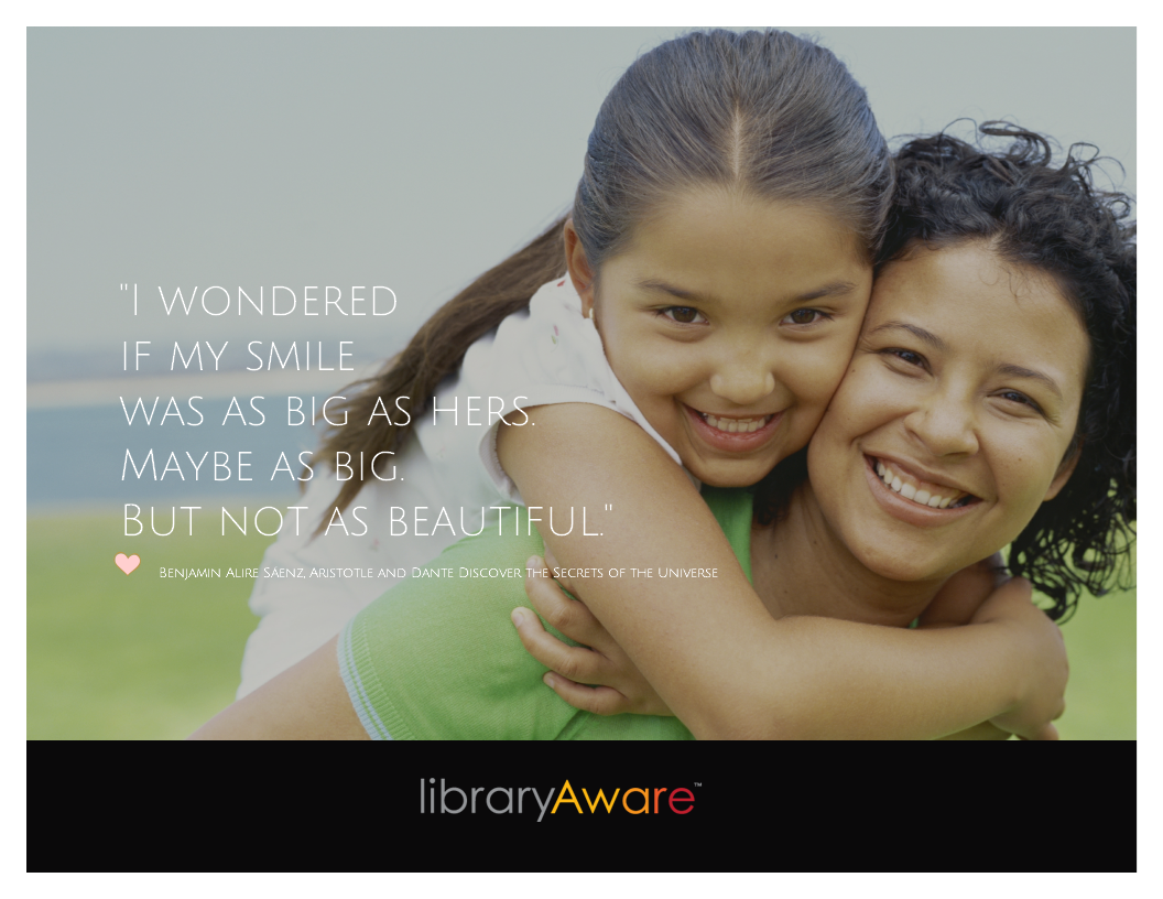 """Share heartfelt quotes from your favorite books with all of your social media friends. LibraryAware has ready-to-go posts for you! Search reading maps for """"quotes"""" to see them all."""