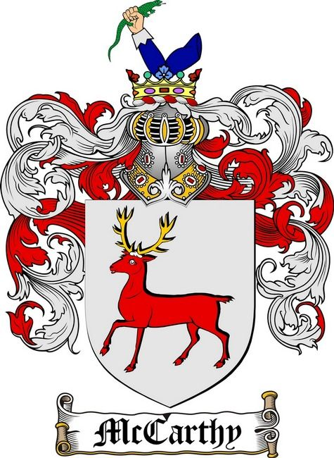 MCCARTHY FAMILY CREST - COAT OF ARMS gifts at www4crests