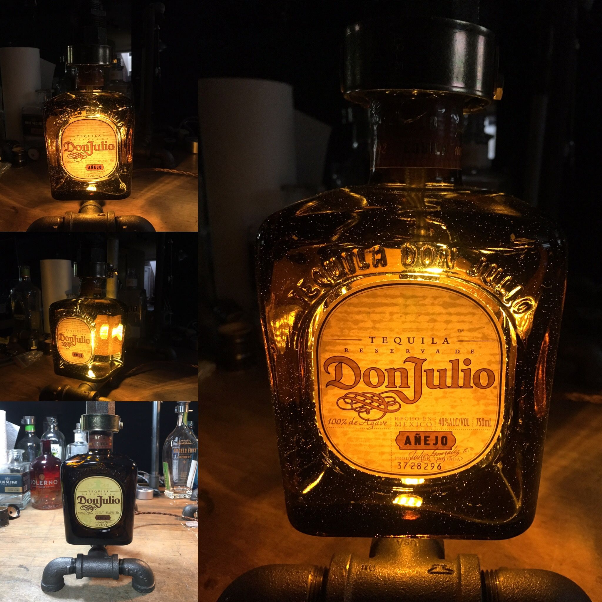 Don Julio Tequila Bottle Lamp with LED bulb | Wrench Envy ...