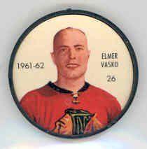 1961-62 Shiriff Coins 26 Elmer Vasko Black Hawks Near-Mint by Shiriff. $6.00. This vintage card featuring Elmer Vasko is # 26 from the 1961-62 Shiriff Coins set