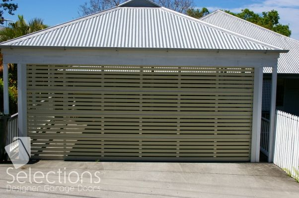 Horizontal Vertical Slat Door Range Selections Designer Garage