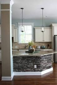 Image result for kitchen island with seating on 2 sides with pillar ...