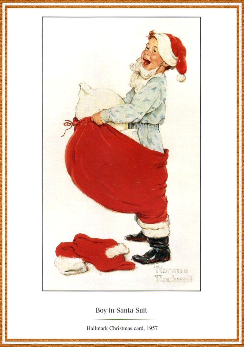 Boy In Santa Suit By Norman Rockwell Artillustrationsnorman