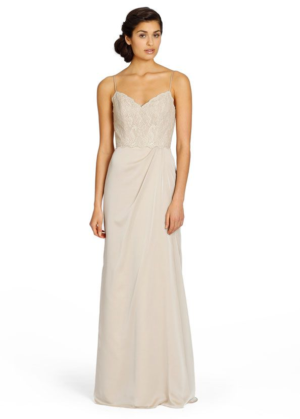 Bridesmaids And Special Occasion Dresses By Jim Hjelm Occasions Style Jh5359 Shimmer Luminescent Chiffon A Line Bridesmaid Gown Champagne Lace