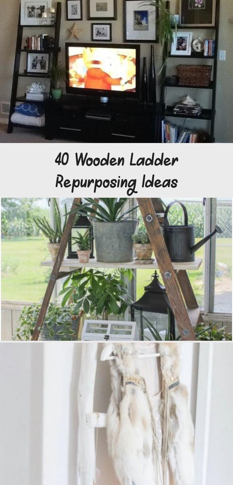40 Wooden Ladder Repurposing Ideas Wooden Diy Wooden Ladder Decor
