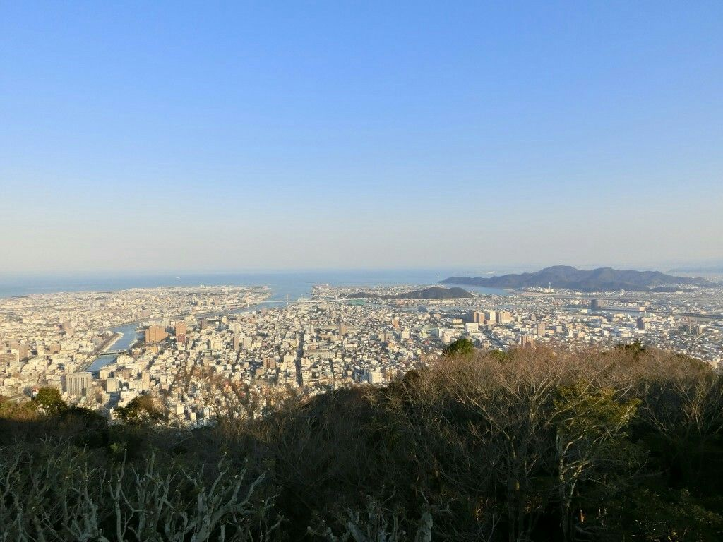 From Mount Bi at Tokushima you can see Honshu on clear days.