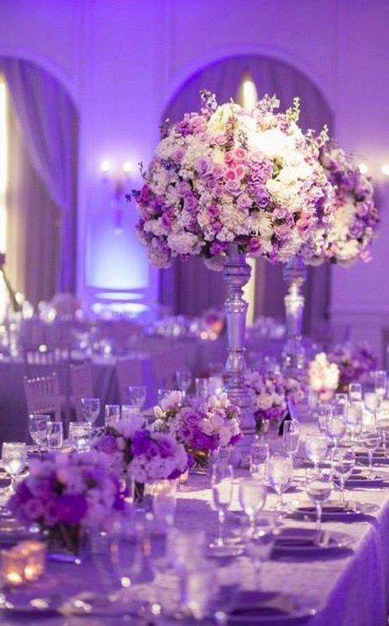 100 fabulous tall wedding centerpieces gorgeous wedding reception centerpiece idea via joseph mark photography httphimisspufftall wedding centerpieces7 junglespirit Images