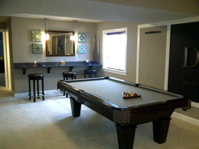 Rec Room Extra Seating Bar Pool Table Room Rec Room Game Room