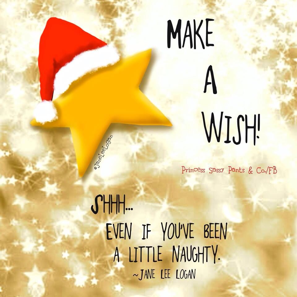 Make A Wish Sassy Pants Christmas Humor Watercolor Christmas Cards