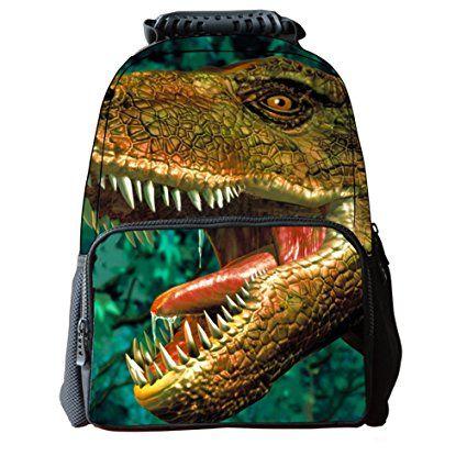 Enfants Garçons Hommes Durable Dinosaure Imprimé Sac D/'école Pour Garçons Sac à dos sac d/'école