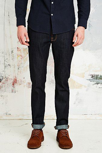 Nudie Jeans Thin Finn Jeans in Dry Denim - Urban Outfitters