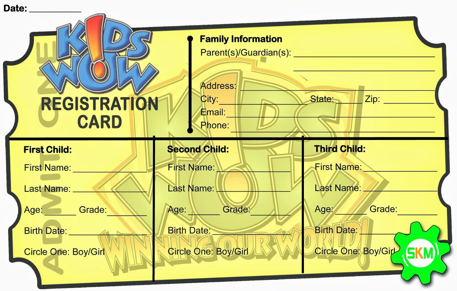 Simply Kids Ministry A Concoction Of Stuff For Kidmin Registration Form Kids Church Activities Children S Ministry Childrens Ministry